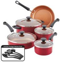 Farberware Easy Clean Pro Nonstick Cookware Set, 13-Piece