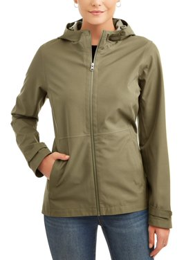 Time and Tru Women's Lightweight Rain Jacket