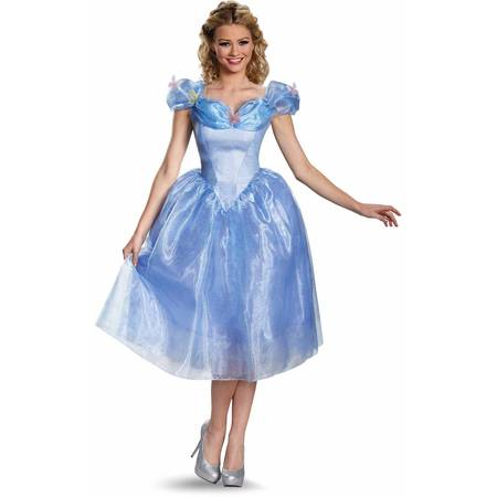Cinderella Movie Cinderella Adult Deluxe Halloween Costume - Cinderella Costumes For Women