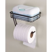 bb241306fa5fad InterDesign Toilet Tissue Holder with Shelf, Wall Mount, Bronze