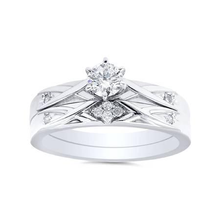 1/3ct Diamond Engagement Wedding Ring Set 14K White Gold 14k Diamond Wedding Set