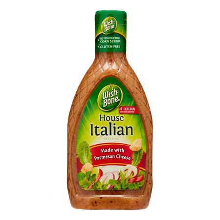 (3 Pack) Wish-Bone Salad Dressing, House Italian, 15 Fl