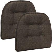 "Gripper Non-Slip 15"" x 16"" Omega Tufted Chair Cushions, Set of 2"