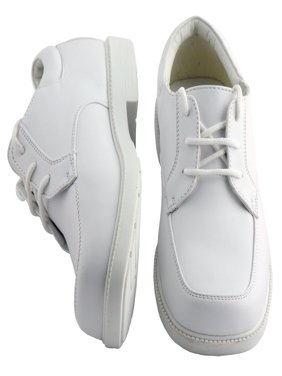 Kids White Square Toe Dress Shoes Toddler Boys Sizes