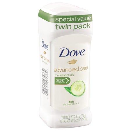 Dove Cool Essentials Antiperspirant Deodorant, 2.6 oz, Twin Pack Dove Fragrance Free Anti Perspirant