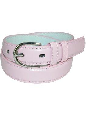 Kid's Leather 1 inch Basic Dress Belt