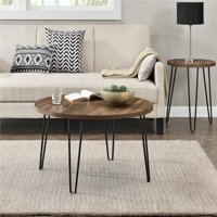 Ameriwood Home Owen Retro Round Coffee Table, Multiple Colors