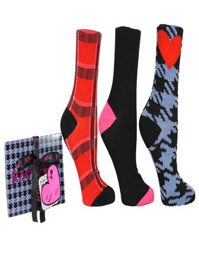 Betsey Johnson 3pk Crew Sock Gift Box