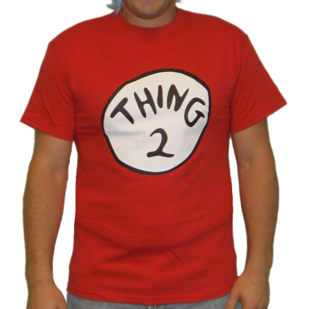 Thing 2 T-Shirt Costume Cat In The Hat Movie Dr Seuss Book Adult Womens (Thing One And Thing Two Baby Shirts)