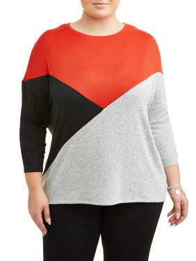 6f6f62ffa57 Product Image Women s Plus Size Color Block Top
