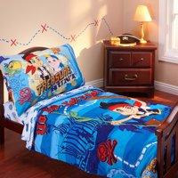 Disney - Jake & Neverland Pirates 3-Piece Toddler Bedding Set with BONUS Matching Pillow Case