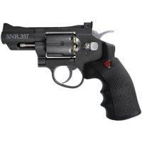 Crosman SNR357 Full Metal Dual Ammo Snub Nose C02 Air Revolver, .177 cal