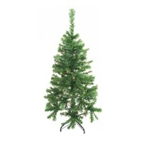 ALEKO CT48H50MC Artificial Indoor Christmas Holiday Tree - 4 Foot - with 50 Multicolored LED Lights - Green Color