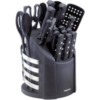 Farberware 17-Piece Never Needs Sharpening Knife and Kitchen Tool Set