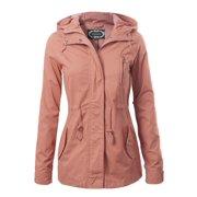 Made by Olivia Women s Military Anorak Safari Hoodie Jacket Mauve 2XL 2ead0d904
