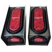 set of 2 steel trailer light boxes w/6