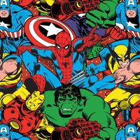 Marvel Collage 100% Cotton Fabric For Quilting And Crafting Officially Licensed From Marvel