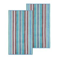Superior 100% Cotton Oversized Rope Textured Beach Towel (Set of 2)