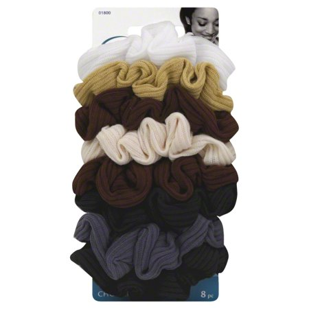 - Goody Ouchless Ribbed Hair Scrunchies, Assorted Neutral Colors, 8 Ct