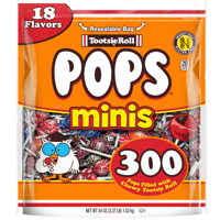 Tootsie Roll Pops Minis Lollipop, 54 Oz., 300 Count