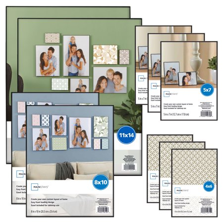 Mainstays 10-Piece Format Picture Frame Set, Black