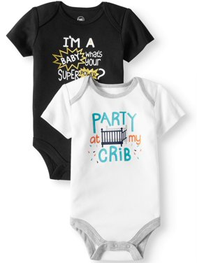 Graphic Bodysuits, 2-pack (Baby Boys)
