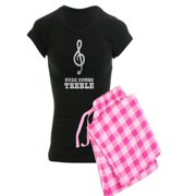 CafePress - Here Comes Treble - Women's Dark Pajamas
