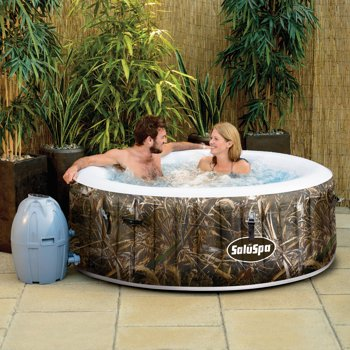SaluSpa Realtree MAX-5 AirJet 4 Person Inflatable Hot Tub Spa only $291.14