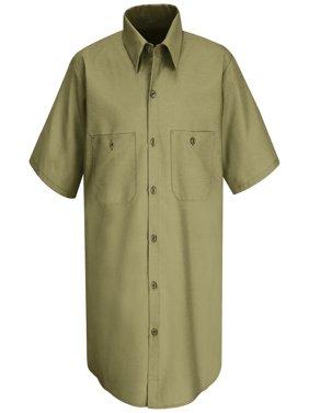 Men's Short Sleeve Wrinkle-Resistant Cotton Work Shirt