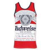 4ddc9b23f82256 budweiser men s red bottle label tank top