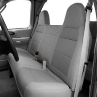 Seat Covers for Ford Pickup Truck F150 F250 F350 F450 F550 Front Bench High Back Exact Fit Charcoal Gray