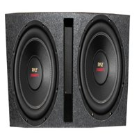 "2) New Pyle PLPW15D 15"" 2000 4-Ohm DVC Car Subwoofer Sub + Dual Ported Enclosure"