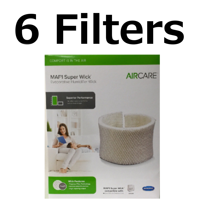 Aircare MAF1 Replacement wicking Humidifier Filter Genuine 6 Pack