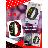 Cyber Deal -Fitness Tracker, Activity Watch with Heart Rate, Blood Pressure and Respiratory  Monitor, Ip 68 Swimming-Wearable with Calorie Steps Sleeps Monitor for Women Kids Men/Android iOS(Red)