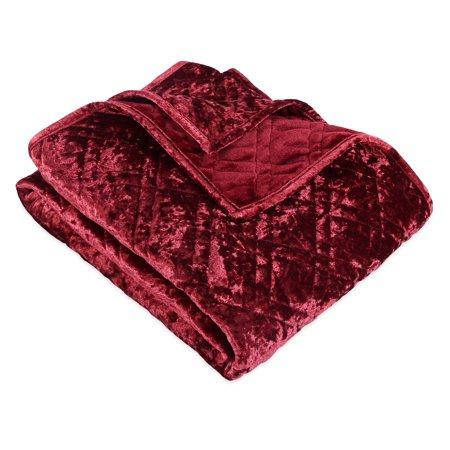 Better Homes & Gardens Crushed Velvet Throw Blanket, 1 Each