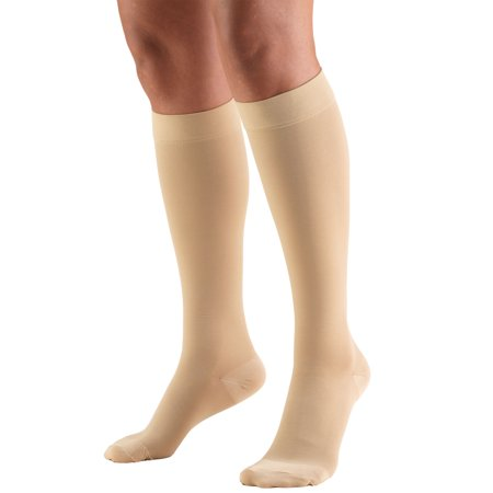 Truform Stockings, Knee High, Closed Toe: 20-30 mmHg, Beige, Small