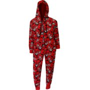 98cac6842e95 Betty Boop Red Plush Onesie Hoodie Pajama