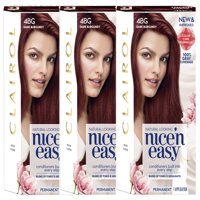 Clairol Nice 'n Easy Permanent Hair Color 4BG Dark Burgundy, 3 pack