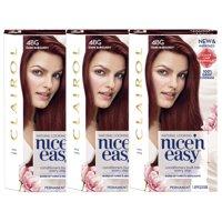 Clairol Nice 'n Easy Permanent Hair Color 4BG Dark Burgundy, 3 pack