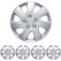 """BDK Toyota Camry Style Hubcaps Wheel Cover, 16"""" Silver Replica Cover, 4 Pieces"""
