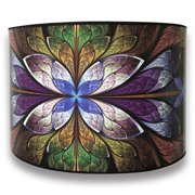 Royal Designs Modern Trendy Decorative Handmade Lamp Shade Made In Usa Purple Flower Design