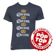 36a1e0c395cc4 Men s Cotton Blend Corona Four Rows Navy Bottle Opener Pop Top T-Shirt