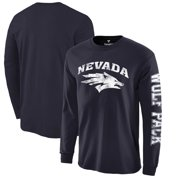 2bc6f0744 Nevada Wolf Pack Fanatics Branded Distressed Arch Over Logo Long Sleeve  T-Shirt - Navy