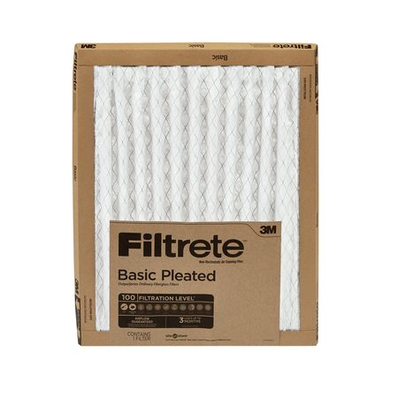 Filtrete 12X12x1, Filtrete Basic Pleated HVAC Furnace Air Filter, 100 MPR, 1