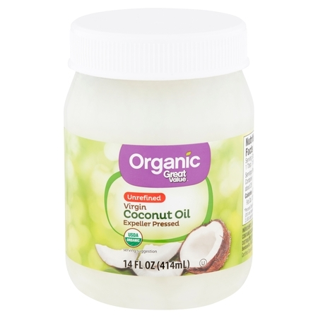 Whole Coconut Oil (Great Value Organic Unrefined Virgin Coconut Oil, 14 fl oz)