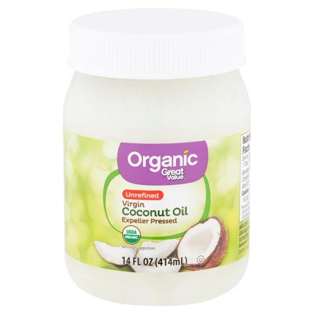 Great Value Organic Unrefined Virgin Coconut Oil, 14 fl (Nutiva Organic Unrefined Extra Virgin Coconut Oil)