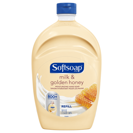 Liquid Gold Antimicrobial Soap ((2 pack) Softsoap Liquid Hand Soap Refill, Milk & Golden Honey, 50)