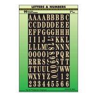 "Self-Stick 1"" Letter and Number Set, Gold"