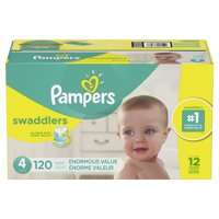Pampers Swaddlers Diapers Size 4, 120 Count