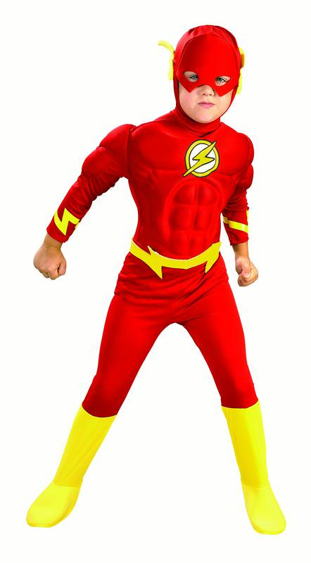 Rubies Flash Muscle Chest Boys Halloween Costume](Kid Flash Halloween Costume)